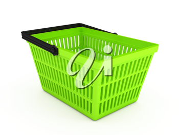 Royalty Free Clipart Image of a Shopping Basket