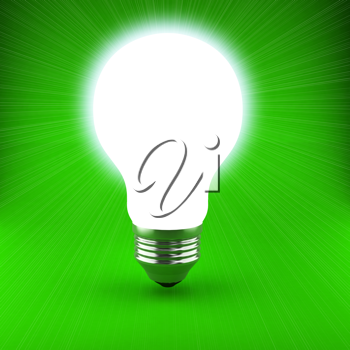Royalty Free Clipart Image of a Light Bulb