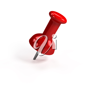 Royalty Free Clipart Image of a Thumbtack