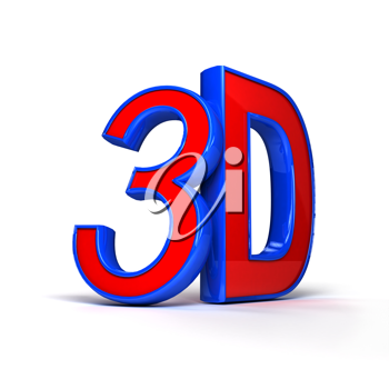 Royalty Free Clipart Image of a 3D Design