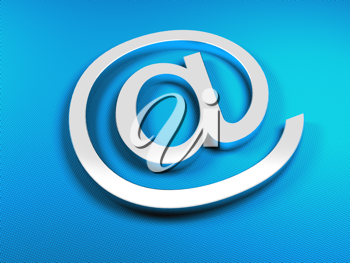 Royalty Free Clipart Image of an Email Sign