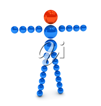 Royalty Free Clipart Image of a Leader Concept