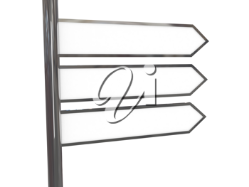 Royalty Free Clipart Image of Blank Signs