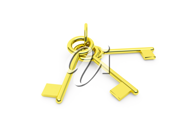 Royalty Free Clipart Image of Gold Keys