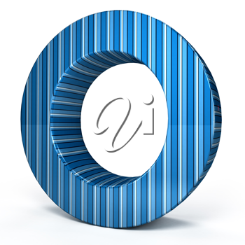 Royalty Free Clipart Image of a Blue Letter
