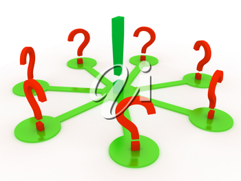 Royalty Free Clipart Image of a Discussion Concept
