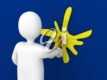 Royalty Free Clipart Image of a Person Painting