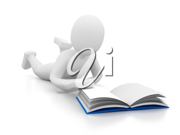 Royalty Free Clipart Image of a Person Reading a Book
