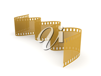 Royalty Free Clipart Image of a Strip of Film