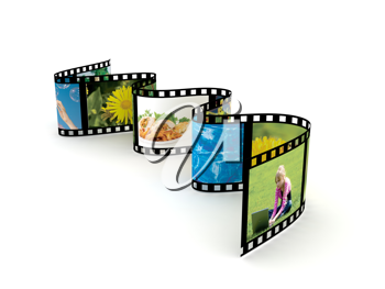 Royalty Free Clipart Image of a Filmstrip