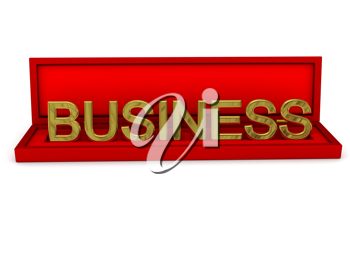 Royalty Free Clipart Image of the Word Business