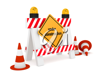 Royalty Free Clipart Image of a Construction Barrier