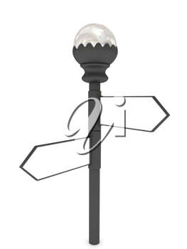 Royalty Free Clipart Image of a Blank Signpost