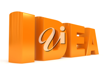 Royalty Free Clipart Image of the Word Idea
