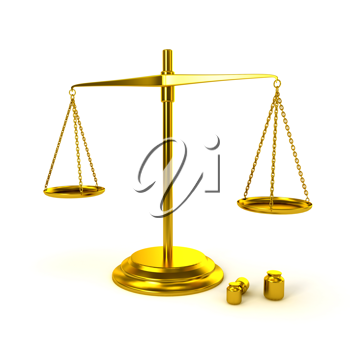 Royalty Free Clipart Image of a Pharmaceutical Gold Scale