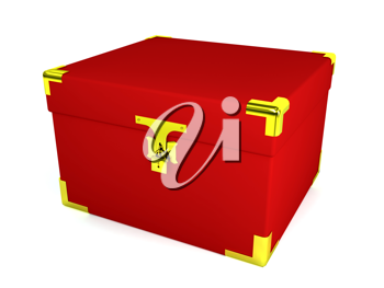 Royalty Free Clipart Image of a Red Box