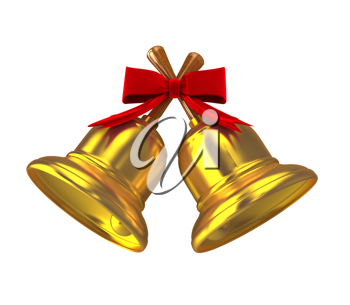 Royalty Free Clipart Image of Gold Bells