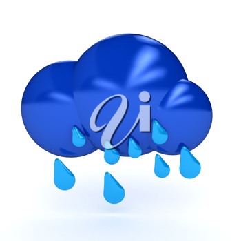 Royalty Free Clipart Image of a Rain Cloud