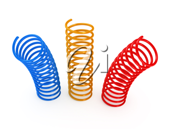 Royalty Free Clipart Image of Metal Springs