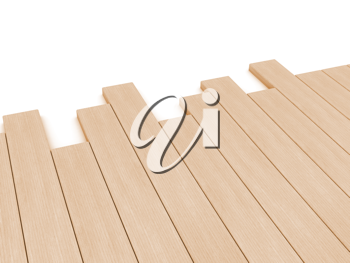 Royalty Free Clipart Image of Wooden Planks