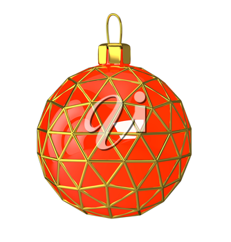 Christmas balls of various colors. 3d illustration.