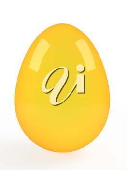 One big golden easter egg. Vector image.
