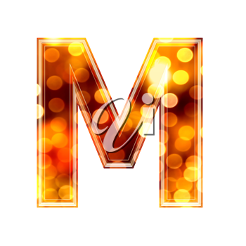 Royalty Free Clipart Image of a Letter 'M'