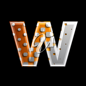 Royalty Free Clipart Image of a Letter 'w'