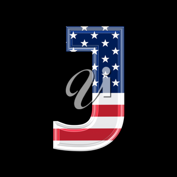 Royalty Free Clipart Image of an American Flag 'J'
