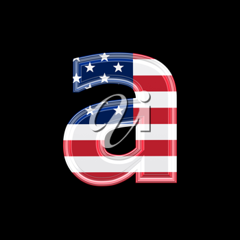 Royalty Free Clipart Image of an American Flag 'a'