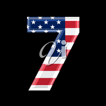 Royalty Free Clipart Image of a Number Seven