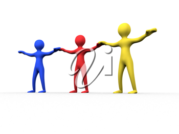 Royalty Free Clipart Image of a Teamwork Concept
