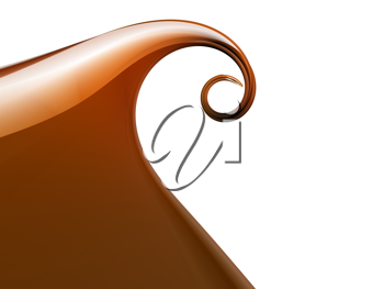 3d picture of an abstract orange wave