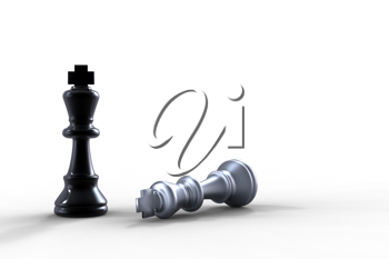 two chess pieces - checkmate concept