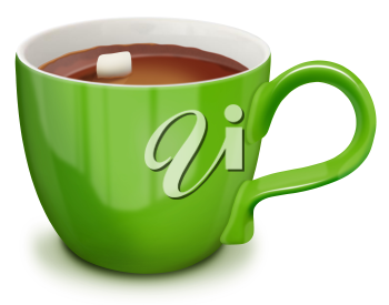 Royalty Free Clipart Image of a Cup of Cocoa