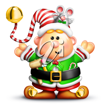 Royalty Free Clipart Image of an Elf