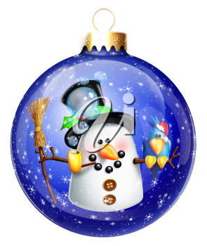 Royalty Free Clipart Image of a Tree Ornament