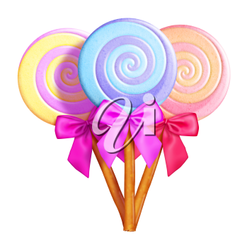Royalty Free Clipart Image of Lollipops