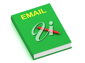 Royalty Free Clipart Image of a Book With the Word Email