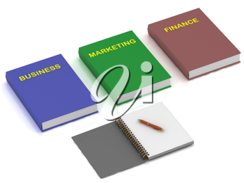 Royalty Free Clipart Image of a Business Books