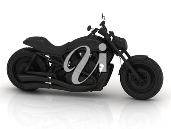 Beautiful model motorcycle made of gray plastic
