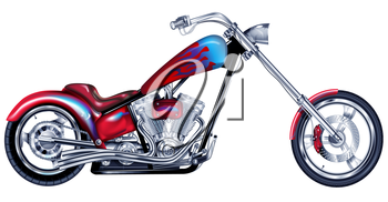 Royalty Free Clipart Image of a Motorbike