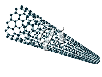 Royalty Free Clipart Image of a Nano Tube