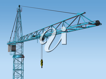 Royalty Free Clipart Image of a Crane