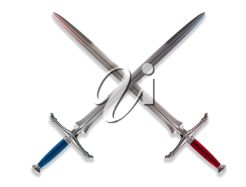 Royalty Free Clipart Image of Swords