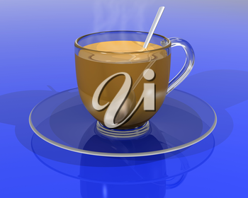 Royalty Free Clipart Image of a Cup and Saucer