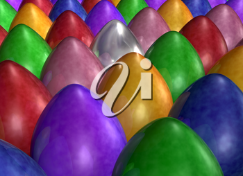 Royalty Free Clipart Image of Eggs