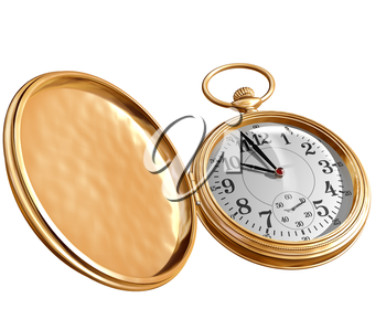 Royalty Free Clipart Image of a Pocket Watch