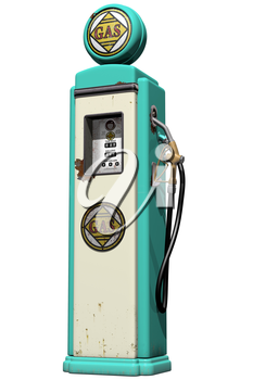 Royalty Free Clipart Image of a Vintage Gas Pump
