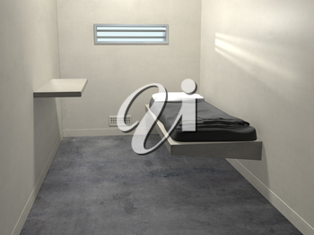 Royalty Free Clipart Image of a Prison Cell